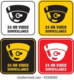 video surveillance camera sign. CCTV