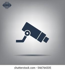 Video surveillance CCTV Camera - vector icon