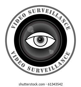 Video surveillance sign, vector illustration