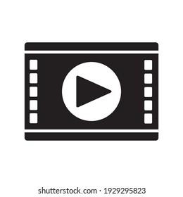 Video symbol, web and computer icon