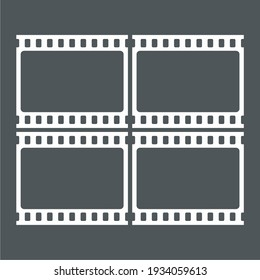 Video tape photo film strip frame quality vector illustration cut