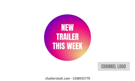 video thumbnails cover photo. new trailer this week cover bottom. remarkable design template.