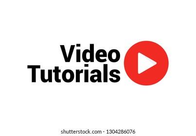 ba6fba076883 Video tutorial vector icon. Webinar training online video tutorial  marketing flat media.
