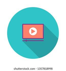 Video Tutorials Flat Icon