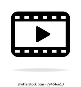 Video Vector Icon Stock Vector (Royalty Free) 794646610
