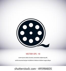 Videocamera Single icon, flat design best vector icon