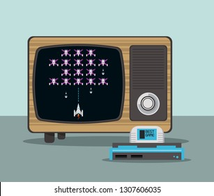 videogame console and tv