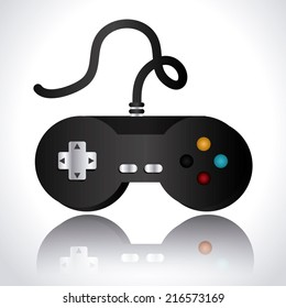 Videogame design over white background, vector illustration
