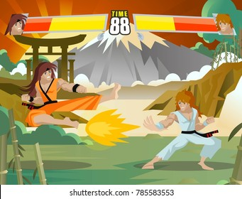 Street Fighter Game Images, Stock Photos & Vectors