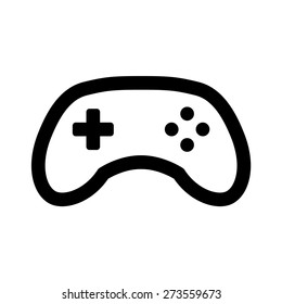 Videogame / video game controller or gamepad line art vector icon for apps and websites