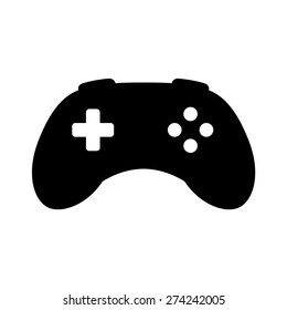 Videogame / video game controller or gamepad flat vector icon for apps and websites