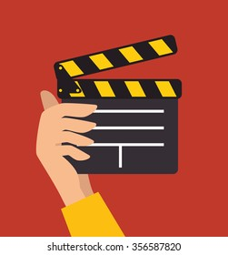 Videos and entertainment graphic design, vector illustration