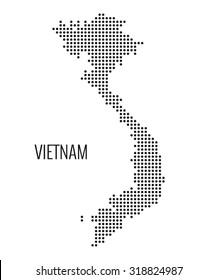 Vietnam dotted map,vector