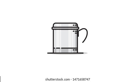 Vietnam Coffee Filter Stock Illustrations Images Vectors Shutterstock