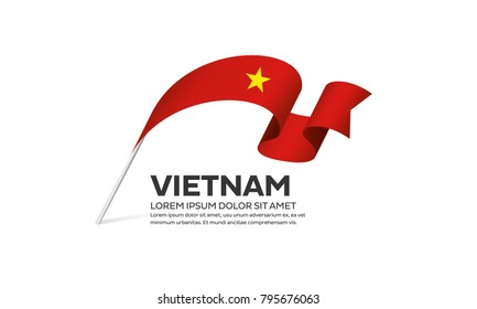 Vietnam flag background