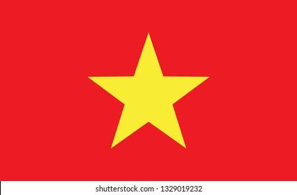 Vietnam  flag. Simple vector Мietnamese flag
