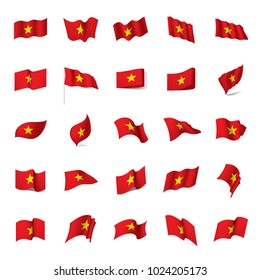 Vietnam flag, vector illustration