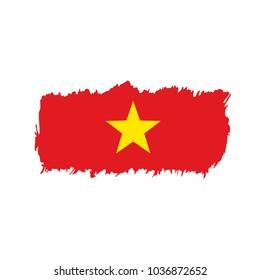 Vietnam flag, vector illustration