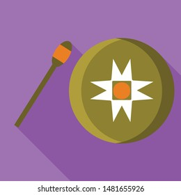 Vietnam gong icon. Flat illustration of Vietnam gong vector icon for web design