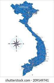 Map Vietnam Stock s & Vectors