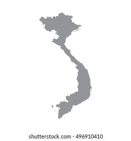 Vietnam-Karte auf grauem Hintergrund