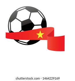 Vietnam  national flag football icon . Vietnam  football championship banner.  Simple vector Vietnam  flag