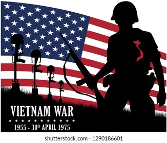 Vietnam war. Remembrance day. Vector illustration Patriotic card