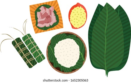 Nourriture vietnamienne avec viande de haricot de riz