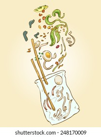 Vietnamese Food_Banh Trang Tron_Rice Paper Salad