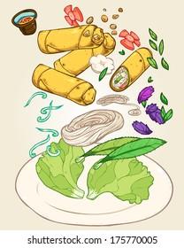 Vietnamese food-spring roll