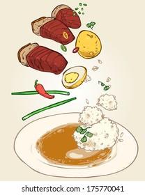 Vietnamese food-stew pork