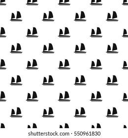 Vietnamese junk boat pattern. Simple illustration of vietnamese junk boat vector pattern for web