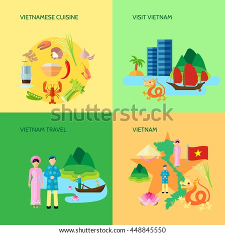 Vietnamese National Cuisine Culture Sightseeing Travelers Stock
