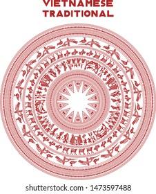 vietnamese traditional pattern illustration vector art, vietnamese styles