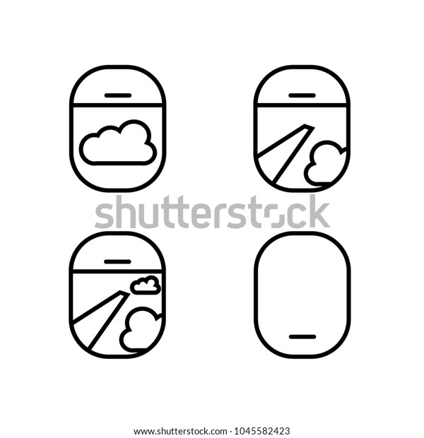 View Airplane Window Icon Stock Vector Royalty Free 1045582423