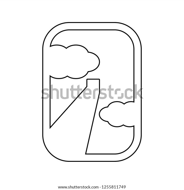 View Airplane Window Icon Element Cyber Stock Vector Royalty Free