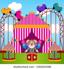 View of a carnival theme park. Vector illustration design