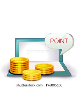 The view of coin with the bankbook