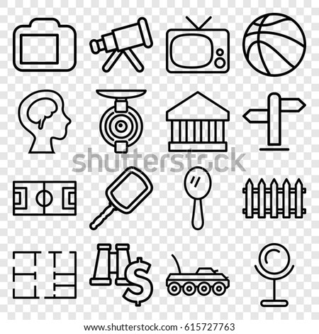 View Icons Set Set 16 View Stock Vector Royalty Free 615727763