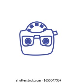 view master line style icon design, retro toy play leisure gaming technology entertainment obsession digital and lifestyle theme Vector illustration