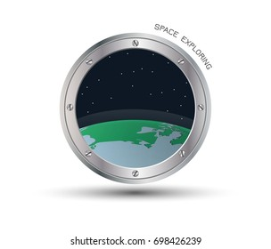 View from the spacecraft's porthole