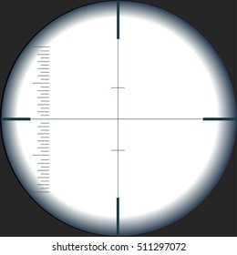view through a telescope, transparent.vector illustration