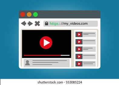 View video clips in the browser window