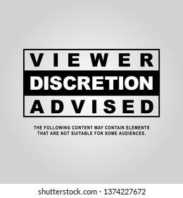Viewer Discretion is Advised