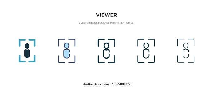 viewer icon in different style vector illustration. two colored and black viewer vector icons designed in filled, outline, line and stroke style can be used for web, mobile, ui