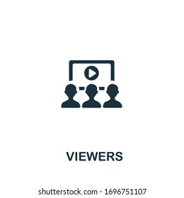 Viewers icon from streaming collection. Simple line Viewers icon for templates, web design and infographics
