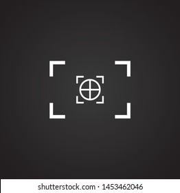 Viewfinder icon on background for graphic and web design. Simple illustration. Internet concept symbol for website button or mobile app.