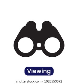 Viewing icon. Simple vector illustration.