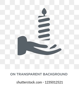Vigil icon. Trendy flat vector Vigil icon on transparent background from Religion  collection.