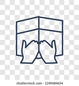 Vigil icon. Trendy linear Vigil logo concept on transparent background from Religion-2 collection